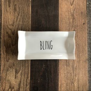 "❤️3/$30 White ceramic ""BLING"" ring tray."